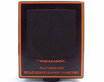 Vintage Realistic Autosound Solid State Super Tweeter Speaker 40-1384 25W MINT