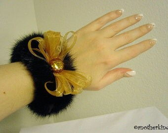 Mahogany Mink Cuff Bracelet