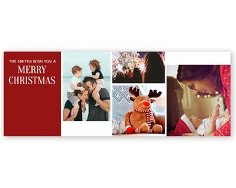 Christmas Facebook Cover Photo Template - Holiday Photography Facebook Timeline Cover Photo - Photoshop Template PSD *INSTANT DOWNLOAD*