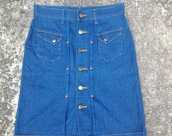 """Women's Wrangler Chocol Raffine Robe Buttonfly Denim Jeans Skirt 4 Pocket Waist 30"""""""