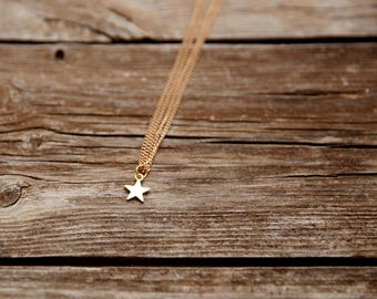 star necklace, GOLD necklace, gold star necklace, dainty necklace, everyday necklace, gift for her,simple necklace, gold star necklace