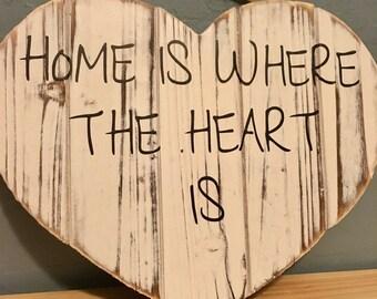 Heart hanging display