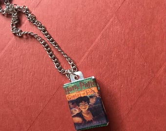 Mini Harry Potter and the Goblet of fire book necklace