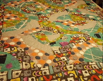 The Crazy Green Quilt