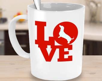 Dachshund coffee mug- funny Dachshund coffee mug- Dachshund coffee cup- Love Dachshund Mug- gift idea
