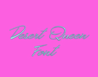 Desert Queen Embroidery Font-5 Sizes Machine Embroidery Font,Embroidery Font,Monogram Alphabet,Instant Download,8 Formats Embroidery Pattern