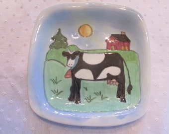 Cow Plate by Sue Bolt