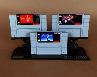 Final Fantasy Super Nintendo SNES Cartridge Display Stand