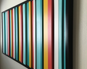 Modern wall art, wood art, abstract wood painting, reclaimed wood, wood wall art