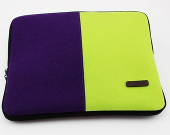 Merino Wool Laptop Cover HandMade With 100% Merino Wool Felt (All Natural) Many Colors