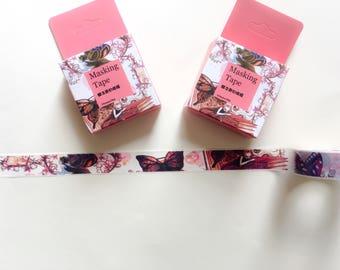 Fairies Washi Tape, magic Washi Tape, girls Washi Tape, pink tape. masking tape. decor tape, scrapbooking tape, journal tape