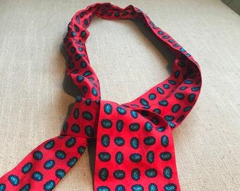 Vintage Liz Clairborne neck scarf paisley design