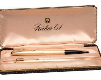Parker 61 set rolled gold 1960s