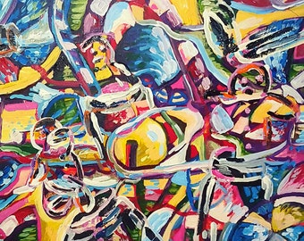 """Candy Jar (14"""" x 18"""" Acrylic on Canvas)"""