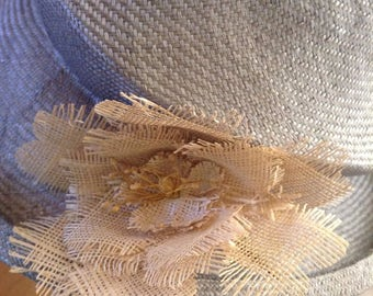 Vintage Hat / Straw Collapsable