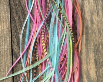 "Sunset Beach 10 Feathers (8""-11"") FREE SHIPPING"
