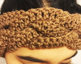Crochet Headband, braided headband, headband, infinity headband