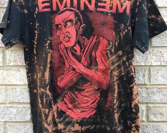 Vintage Inspired Bleached Eminem Shirt