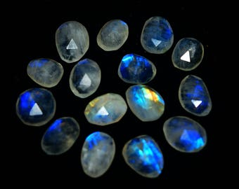 59.00 CTS Natural Rainbow Moonstone Faceted  Piece Loose Gemstone Lot