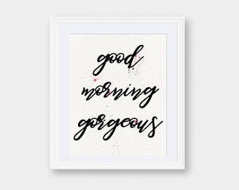 Good Morning Wall Art | Good Morning | Wall Art | Good Morning Print | Home Decor | Wall Decor | Printable Art