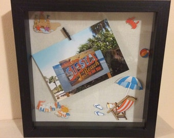 Beach Themed Shadow Box Frame