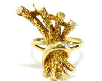 Gold Stick Bundle Ring 10K - X3174