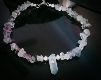 Rainbow Flourite Enlightenment Choker