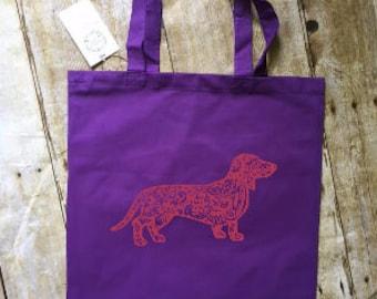 Dachshund tote bag, wiener dog tote, dachshund gift, wiener dog gift, doxie , dachshund lover, wiener dog lover, dog bag, dachshund bag