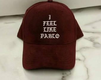 I Feel Like Pablo, I Feel Like Pablo Maroon Cap, Pablo Hat, Kanye West, Yeezy, Yeezus, Pop Up Tour Merch