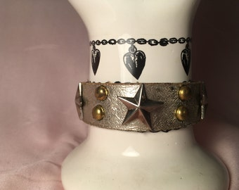 Silver Star Bracelet. Vintage 1990s.