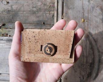 Cork Card Case // Silk Lining // Business card holder