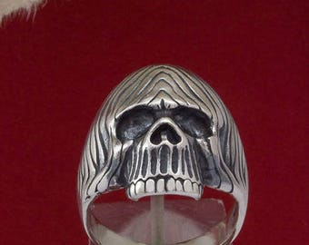 925 Sterling Silver Skull  Ring/Handcrafted Silver Ring/Sterling Silver Ring/ Ring/R461