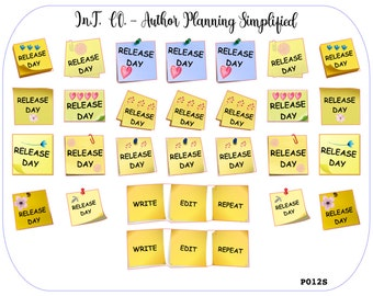 Author Planner Stickers - Release Day Posties