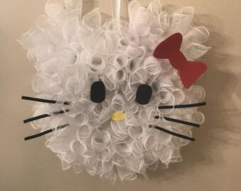 Hello Kitty Wreath