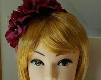 Played flower headband
