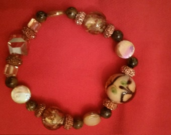 Hand crafted bead bracelet