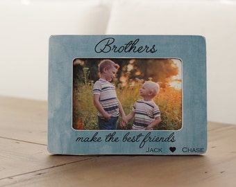 Brothers Picture Frame GIFT Personalized Brothers Frame Best Man Best Friends Groomsman Best Friends Gift for Brother Twin Boys