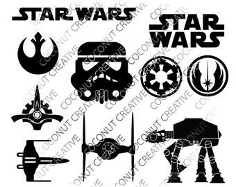 Star Wars svg dfx jpg jpeg eps layered cut cutting files cricut silhouette die cut decal vinyl