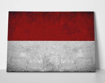 Indonesia Flag Poster Limited Edition Indonesian Flag Canvas | Indonesia Flag Poster