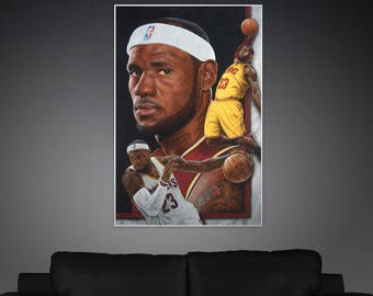 Lebron James Painting Poster or Canvas | Limited Edition Lebron James Painting Poster or Canvas