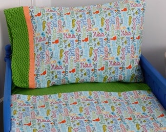 Toddler Bedding/Aussie Toddler Bedding/Crib Bedding/Three or Piece Set/Aussie Animals Bedding/Boys Toddler Set/Pillow and Blanket Set