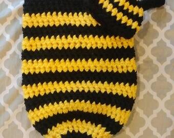 Crochet Bee Cocoon