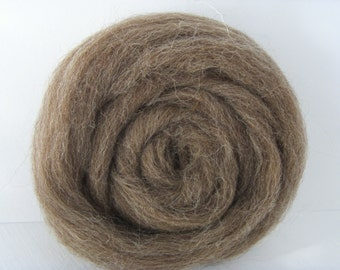 25g wool felting or spinning color Brown natural french