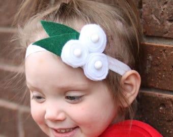 white felt flower headband, felt flowers, felt flower headband, felt flower hair clip, felt headband, felt hair clips, felt hair accessory