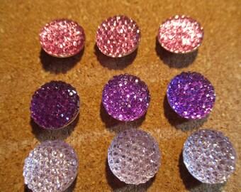 Gemstone Push Pins