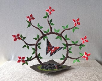 Origami bonsai magic circle of butterfly