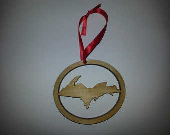 Michigan Upper Peninsula Christmas Ornament