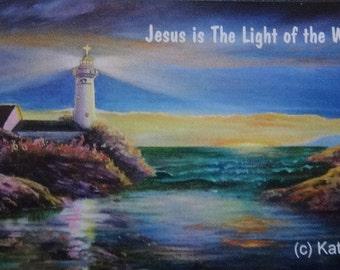 Lighthouse Fridge Magnet: Jesus the Light of the World