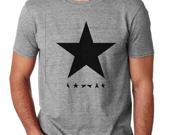 David Bowie shirt David Bowie album black star posters printing glam rock fashion men t shirt
