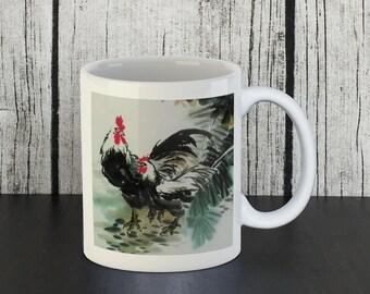 Rooster & Hen Mug